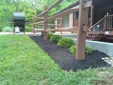(1) Simple landscaping at a home.